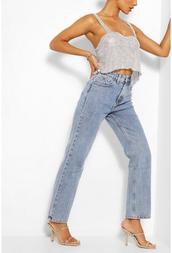 Mid blue Vintage Wash Mom Jean
