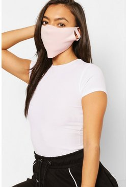 Pink Plain Fashion Face Mask