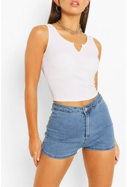 Mid blue Denim Short