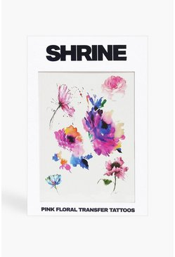 Multi Shrine Pink Floral Transfer Tattoos
