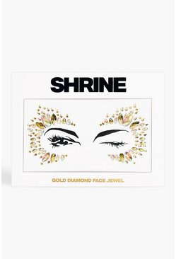 Multi Shrine Gold Diamond Face Jewel