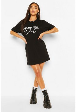 Black In Is The New Out T-shirt Dress