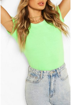 Basic Neon T-Shirt, Neon-green