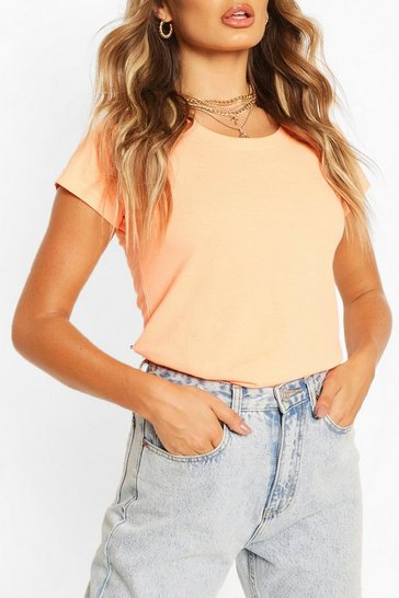 Neon-orange Basic Neon T-Shirt