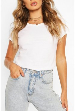 White Basic Neon T-Shirt