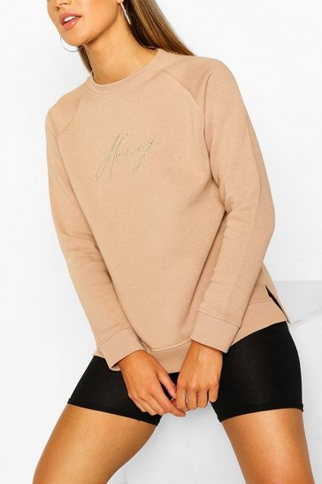 Stone Honey Embroidered Sweater