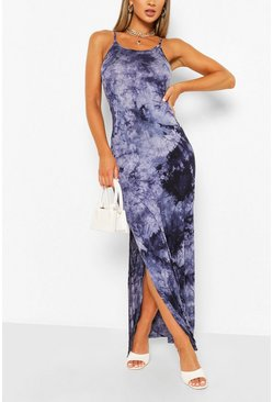 Navy Tie Dye Maxi Dress