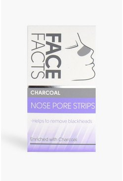 White Face Facts Nose Pore Strips - Charcoal