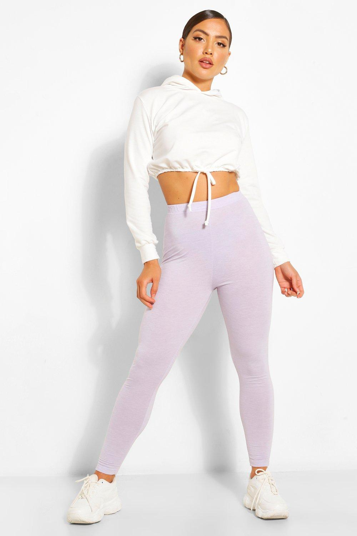 womens basic high waist ankle grazer legging - purple - 4