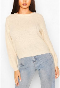 Stone Loose Rib Knit Sweater