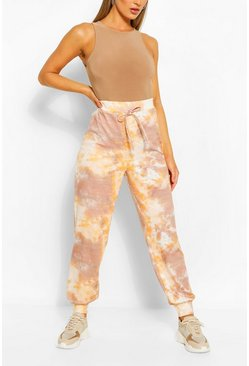 Tonal Tie Dye Relaxed Joggers, Nude