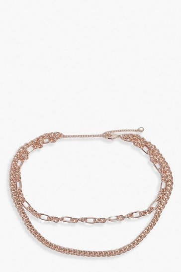Gold Multi Chain Choker