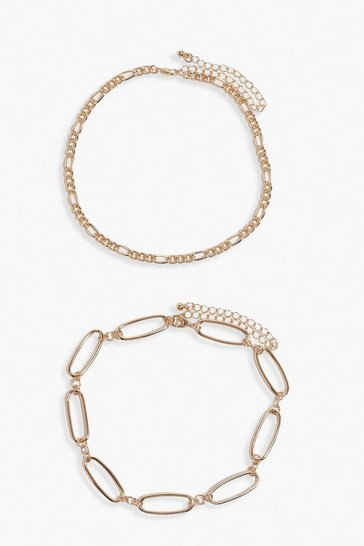 Gold Multi Pack Chain Linked Choker