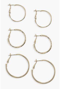 Gold Etched Multi Size Hoop Pack