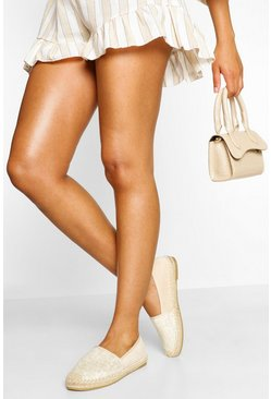 Cream Basic Espadrilles