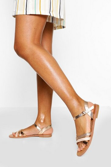 Nude Strappy Basic Sandal