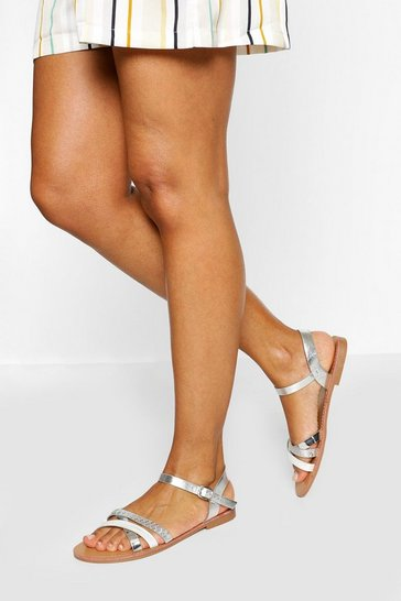White Strappy Basic Sandal