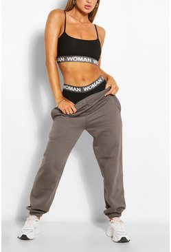 Charcoal CASUAL HIGH WAIST  JOGGER