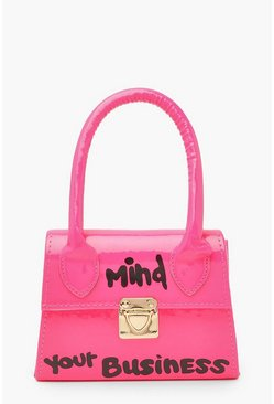 Neon-pink Mind Your Business Mini Bag