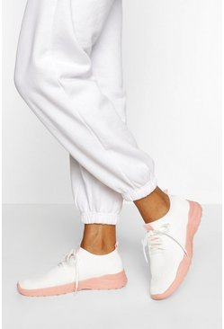 Pink Basic Sports Trainers