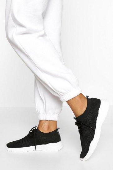 Black Basic Sports Trainers