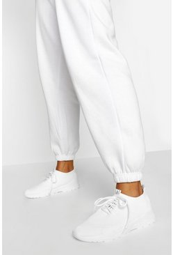 White Basic Sports Sneakers
