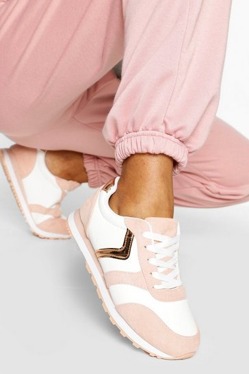 Pink Retro Running Trainers