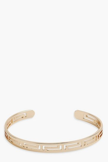Gold Egyptian Cut Out Bangle