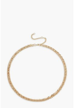 Linked Chunky Chain Necklace, Gold