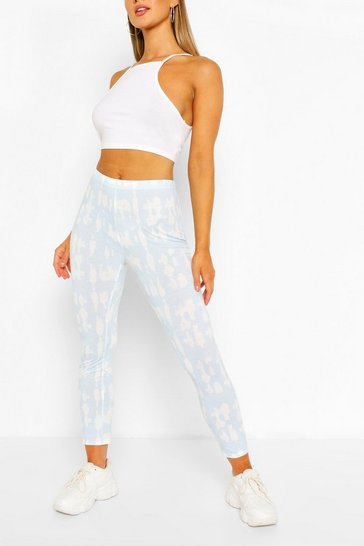 Baby blue Tie Dye Jersey Leggings
