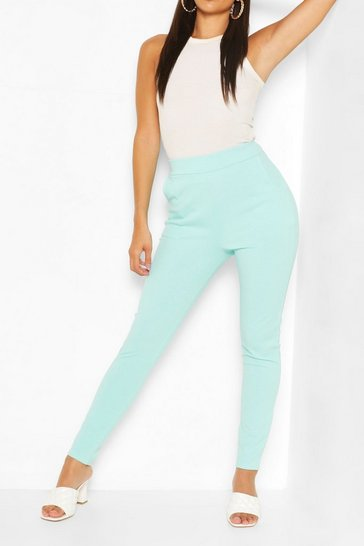 Mint Pastel Pocket Detail Casual Skinny Trousers