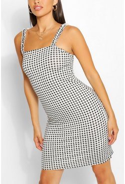 Black Gingham Sundress