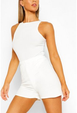 Ivory Jersey Sweat Short