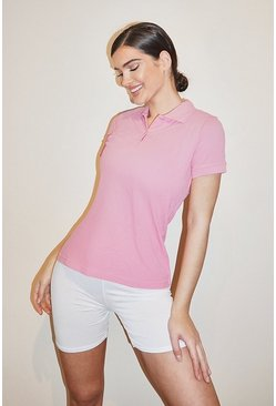 Pink Basic Polo T-shirt