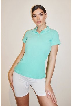 Turquoise Basic Polo T-shirt