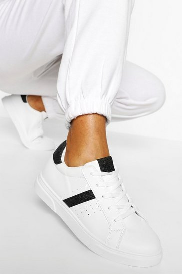 Black Side Stripe Basic Trainers