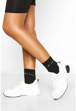 Black Chunky Sports Trainer