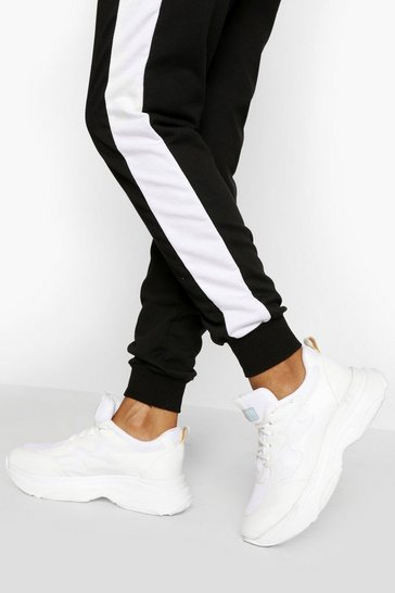 White Chunky Sole Lace Up Trainer