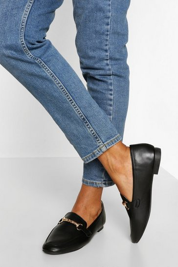 Black Basic T Bar Loafer