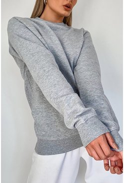 Grey Basic Crew Neck Sweat