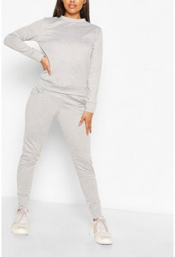 OVERSIZED SWEAT AND JOGGER SET, Silver