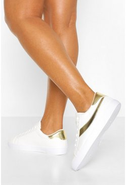 Gold Platform Retro Sneakers