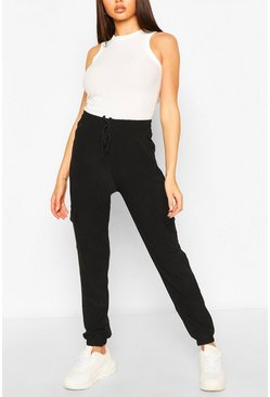 Black Cargo Pants With Side Pocket