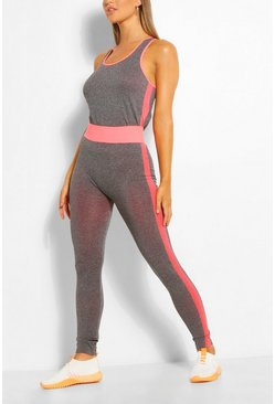 Coral Racer Back Vest & Legging Set