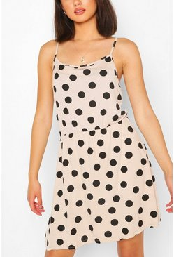 Large Polka Dot Sundress, Stone