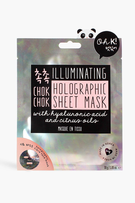 womens oh k! chok chok holographic sheet mask - multi - one size