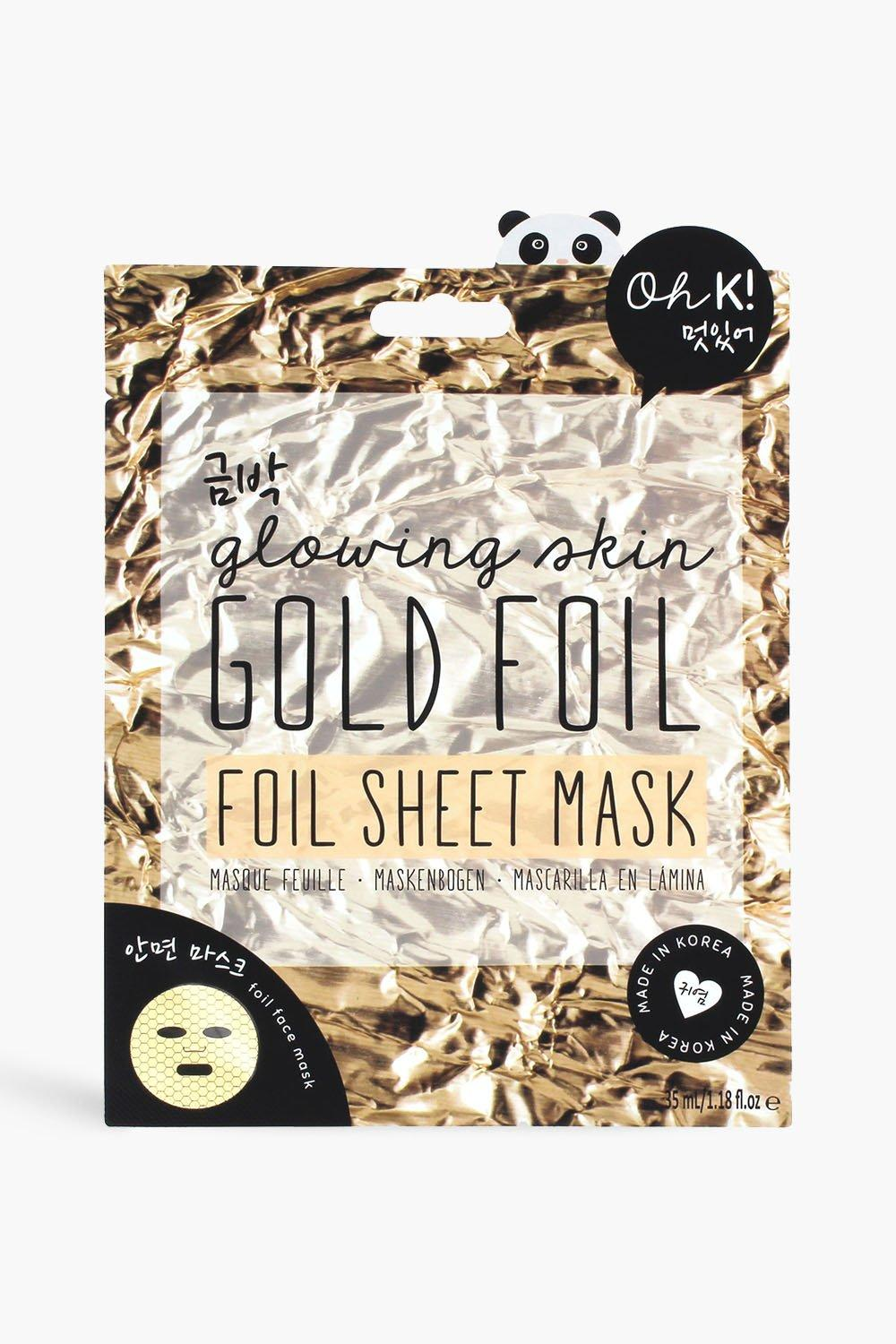 womens oh k! gold foil sheet mask - multi - one size