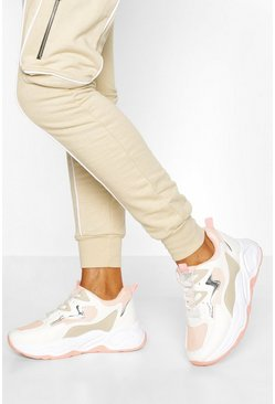 Pink Chunky Colour Block Trainer