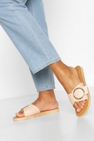 Nude Buckle Detail Slider