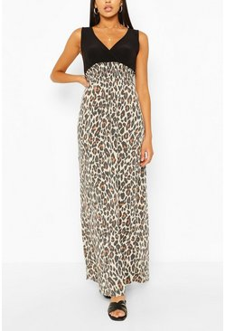 2 in 1 Leopard Maxi Dress